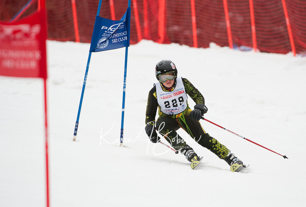 Francis Piche Invitational giant slalom for J4 at Gunstock March 17, 2012.