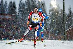March 16, 2019 - –Stersund, Sweden - 190316 Dominik Landertinger of Austria competes in the Men's 4x7,5 km Relay during the IBU World Championships Biathlon on March 16, 2019 in Östersund..Photo: Johan Axelsson / BILDBYRÃ…N / Cop 245 (Credit Image: © Johan Axelsson/Bildbyran via ZUMA Press)