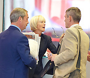 Andrew Marr Show arrivals <br /> at BBC Broadcasting House, London, Great Britain <br /> 18th September 2016 <br /> <br /> <br /> Nigel Farage MEP <br /> ex-leader of UKIP <br /> <br /> Jane Moore - columnist for the Sun <br /> <br /> <br /> Photograph by Elliott Franks <br /> Image licensed to Elliott Franks Photography Services