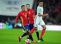 Football - 2016 / 2017 International Friendly - England vs. Spain<br /> <br /> Jesse Lingard of England and Thiago of Spain at Wembley.<br /> <br /> COLORSPORT/ANDREW COWIE