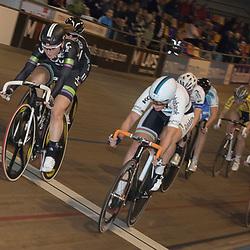 20-12-2015: Wielrennen: NK Baan: Alkmaar<br />ALKMAAR (NED) baanwielrennen<br />Amy Pieters pakt de titel op de Scratch voor Kirsten Wild en Kelly Markus