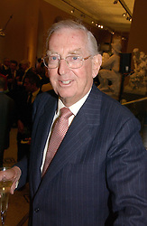 LORD SAINSBURY OF PRESTON CANDOVER at a party to launch the new Sculpture Galleries at the V&A, London sponsored by Michael & Dorothy Hintze on 24th May 2006.<br /><br />NON EXCLUSIVE - WORLD RIGHTS
