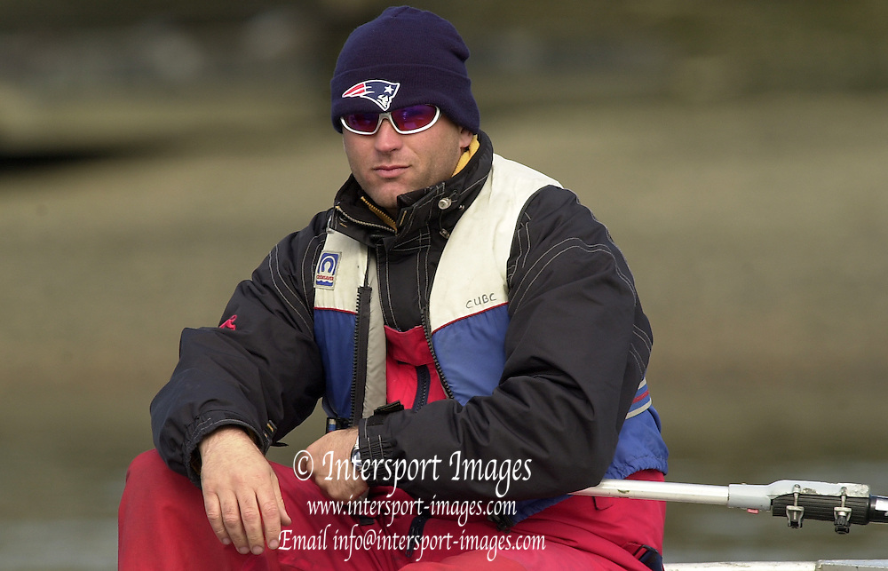 2003 - Rowing - 149th Varsity Boat Race - Tideway Week <br /> 03/04/03 Cambridge Goldie Coach, Mark HALL.  [Mandatory Credit; Peter Spurrier/Intersport Images]