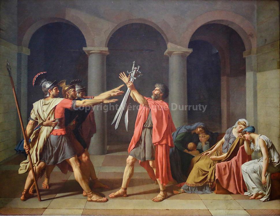 Le serment des Horaces, David, musée du Louvre, Paris, France