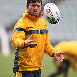 Adam Ashley-Cooper during the Team training - Australia,Wednesday 12 October 2011 Australia training session. North Harbour Stadium Stadium Drive Albany, Auckland.<br />  Photographer Steve Haag
