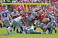 18 September 2011: Nose tackle (90) Jay Ratliff of the Dallas Cowboys in action against the San Francisco 49ers during the first half of the Cowboys 27-24 overtime victory against the 49ers in an NFL football game at Candlestick Park in San Francisco, CA
