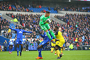 Cardiff City's Neil Etheridge takes a catch during the EFL Sky Bet Championship match between Cardiff City and Burton Albion at the Cardiff City Stadium, Cardiff, Wales on 30 March 2018. Picture by John Potts.