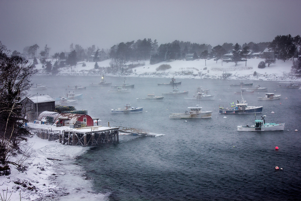 Winter Storm On Mackerel Cove Coast Of Maine Photography