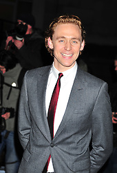 © Licensed to London News Pictures. 06/02/2012.  England. Tom Hiddleston attends the Evening Standard Film Awards at County Hall westminster London Photo credit : ALAN ROXBOROUGH/LNP