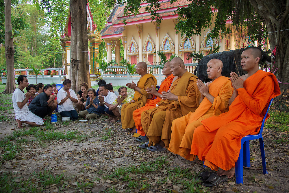 Songkran: Honoring the Dead at the Temple in Rural Nakhon Nayok, Thailand.
