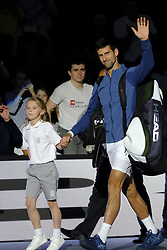 October 30, 2018 - Paris, France - Serbian player NOVAK DJOKOVIC before the tournament Rolex Paris Master match against portuguese player Joao Sousa at Paris AccorHotel Arena Stadium in Paris France..Novak Djokovic  won 7-5 6-1 (Credit Image: © Pierre Stevenin/ZUMA Wire)