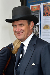 Journalist and television presenter Alan Whicker's memorial service at Grosvenor Chapel, Mayfair, London, UK.<br /> <br /> Pictured is AA Gill attending the service.<br /> <br /> Wednesday, 28th May 2014. Picture by Ben Stevens / i-Images