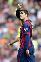 Luis Suarez of Barcelona celebrating goal during the Spanish championship Liga football match between FC Barcelona and Rayo Vallecano on March 8, 2015 at Camp Nou stadium in Barcelona, Spain. Photo Bagu Blanco / DPPI