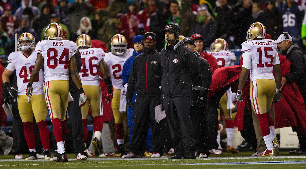 Dec 23, 2012; Seattle, WA, USA; The San Francisco 49ers versus the Seattle Seahawks at CenturyLink Field. Kevin Light Photography.