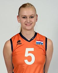 13-05-2014 NED: Selectie Nederlands volleybal team mannen, Arnhem<br /> Op Papendal werd het Nederlands team volleybal seizoen 2014-2015 gepresenteerd / Christie Wolt