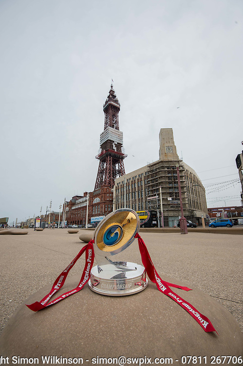 Picture by Paul Currie/SWpix.com - 10/09/2013 - Rugby League World Cup 2013copyright picture - Simon Wilkinson - simon@swpix.com - Picture shows the Kingstone Press trophy in Blackpool
