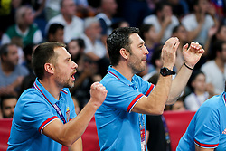 Team Serbia during the Final basketball match between National Teams  Slovenia and Serbia at Day 18 of the FIBA EuroBasket 2017 at Sinan Erdem Dome in Istanbul, Turkey on September 17, 2017. Photo by Vid Ponikvar / Sportida