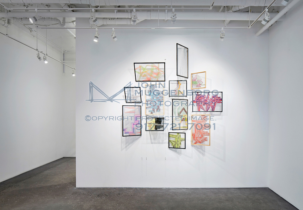 """Alois Kronschlaeger's """"New Work"""" installation at Cristin Tierney gallery in Chelsea."""