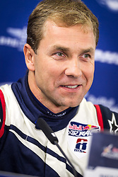 25.10.2014, Red Bull Ring, Spielberg, AUT, Red Bull Air Race, im Bild Pressekonferenz, Martin Sonka, (CZE) // during the Red Bull Air Race Championships 2014 at the Red Bull Ring in Spielberg, Austria, 2014/10/25, EXPA Pictures © 2014, PhotoCredit: EXPA/ M.Kuhnke