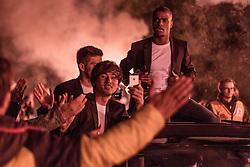 24.05.2015, Red Bull Arena, Salzburg, AUT, 1.FBL, FC Red Bull Salzburg Meisterfeier, im Bild v.l.: Takumi Minamino (FC Red Bull Salzburg, #18), Felipe Pires (FC Red Bull Salzburg, #11) // during the Austrian Football Bundesliga Championsship Celebration at the Red Bull Arena, Salzburg, Austria on 2015/05/24. EXPA Pictures © 2015, PhotoCredit: EXPA/ JFK