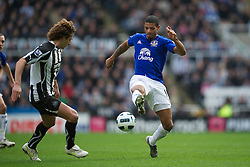 NEWCASTLE, ENGLAND - Saturday, March 5, 2011: Everton's Jermaine Beckford in action against Newcastle United before the Premiership match at St. James' Park. (Photo by David Rawcliffe/Propaganda)