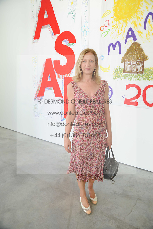 MARY GREENWELL at a charity lunch organised in aid of ASAP (African Solutions to African Problems) held at the Louise T Blouin Foundation, 3 Olaf Street, London W11 on 23rd June 2010.