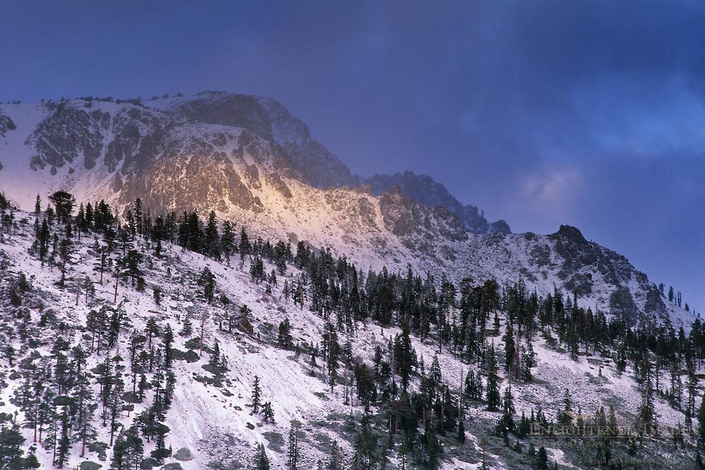 Mount Tallac in winter, near Lake Tahoe, California