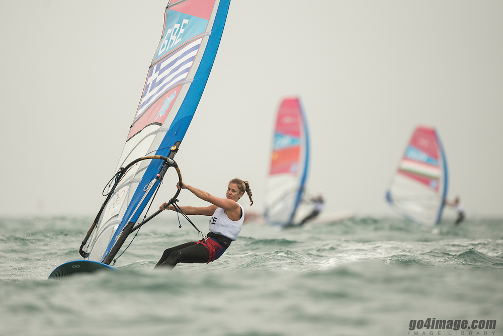2012 Olympic Games London / Weymouth<br /> RSX women racing day 1 <br /> RS:X WomenGRESkarlatou Angeliki