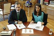 061020 Spanish Royals working at Zarzuela Palace