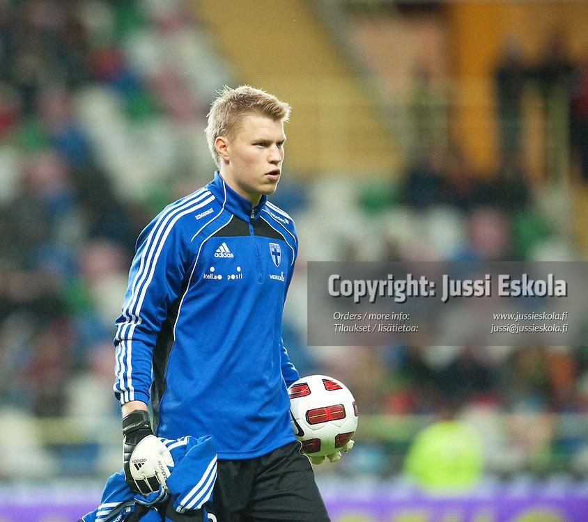 Anssi Jaakkola. Portugali - Suomi. A-maaottelu. Aveiro, Portugali 29.3.2011. Photo: Jussi Eskola