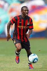July 16, 2011; San Francisco, CA, USA;  Manchester City midfielder Shaun Wright-Phillips (8) dribbles the ball against Club America during the first half at AT&T Park. Manchester City defeated Club America 2-0.
