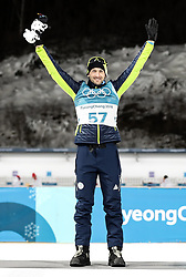 PYEONGCHANG-GUN, SOUTH KOREA - FEBRUARY 15: Silver medallist Jakov Fak of Slovenia celebrates during the victory ceremony for the Men's 20km Individual Biathlon at Alpensia Biathlon Centre on February 15, 2018 in Pyeongchang-gun, South Korea. Photo by Chine Nouvelle/SIPA