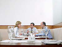 Businesspeople in restaurant