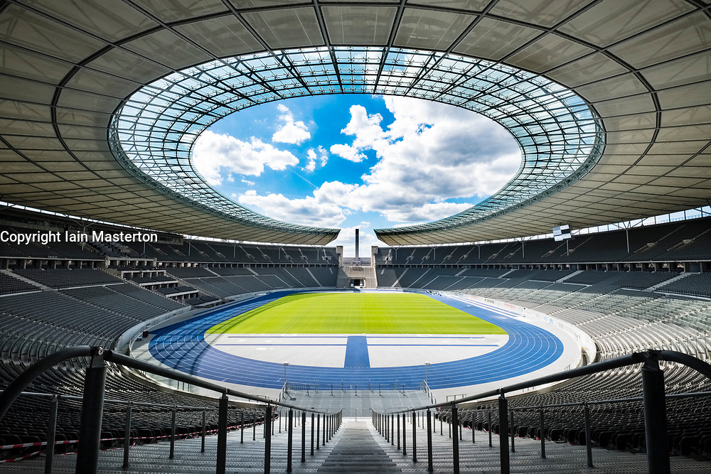 Interior view of Olympiastadion ( Olympic Stadium) in Berlin, Germany