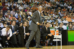 Virginia head coach Dave Leitao encourages his team from the sidelines.  The Virginia Cavaliers fell to the Georgia Tech Yellow Jackets 94-76  in the first round of the 2008 ACC Men's Basketball Tournament at the Charlotte Bobcats Arena in Charlotte, NC on March 13, 2008.