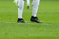 Real Madrid´s Cristiano Ronaldo´s boots during Spanish King´s Cup match at Santiago Bernabeu stadium in Madrid, Spain. January 15, 2015. (ALTERPHOTOS/Victor Blanco)