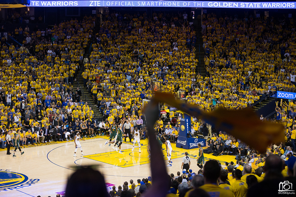 The Golden State Warriors beat the Utah Jazz 106-94 during Game 1 of the Western Conference Semifinals at Oracle Arena in Oakland, Calif., on May 2, 2017. (Stan Olszewski/Special to S.F. Examiner)