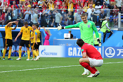 July 14, 2018 - St. Petersburg, Russia - July 14, 2018, St. Petersburg, FIFA World Cup 2018, Football match for the third place in the World Cup. Football match of Belgium - England at the stadium of St. Petersburg. Player of the national team Jordan Pickford  (Credit Image: © Russian Look via ZUMA Wire)