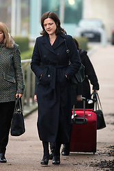 "© Licensed to London News Pictures. 30/01/2017. Manchester UK. Assistant Chief Constable Rebekah Sutcliffe arriving at Manchester Police Headquarters this morning where she is due to appear at a further Gross Misconduct hearing at today. Chief Constable Sutcliffe has all ready been found guilty of Gross Misconduct after telling Superintendent Sarah Jackson she was ""silly, vain & frivolous"" for getting breast implants during a senior Women in Policing conference. Today's hearing will determine what disciplinary action should be imposed on ACC Sutcliffe. Photo credit: Andrew McCaren/LNP"