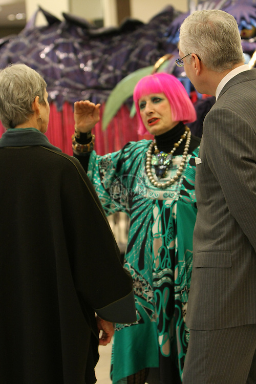 Designer Zandra Rhodes personal appearance at Neiman Marcus - Bellevue, featuring costumes for Seattle Opera's production of Magic Flute.