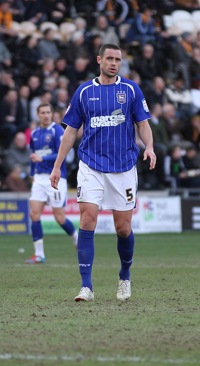 Picture by Richard Gould/Focus Images Ltd. 07710 761829.10/03/12.Damien Dalaney of Ipswich Town during the Npower Championship match at KC Stadium, Hull.