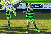 Flag bearer during the EFL Sky Bet League 2 match between Forest Green Rovers and Morecambe at the New Lawn, Forest Green, United Kingdom on 17 November 2018.