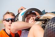 Lieske Yntema zit klaar in de VeloX 4. Op de RDW baan in Lelystad wordt getest met de VeloX 4, de fiets van vorig jaar, en voor het eerst ook met de nieuwste fiets, de VeloX V. In september wil het Human Power Team Delft en Amsterdam, dat bestaat uit studenten van de TU Delft en de VU Amsterdam, een poging doen het wereldrecord snelfietsen te verbreken, dat nu op 133,8 km/h staat tijdens de World Human Powered Speed Challenge.<br /> <br /> At the RDW track in Lelystad the team tests wit the VeloX 4 and for the first time with the VeloX V. With the special recumbent bike the Human Power Team Delft and Amsterdam, consisting of students of the TU Delft and the VU Amsterdam, also wants to set a new world record cycling in September at the World Human Powered Speed Challenge. The current speed record is 133,8 km/h.