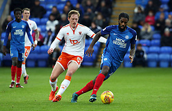 Anthony Grant of Peterborough United in action with Sean Longstaff of Blackpool - Mandatory by-line: Joe Dent/JMP - 18/11/2017 - FOOTBALL - ABAX Stadium - Peterborough, England - Peterborough United v Blackpool - Sky Bet League One