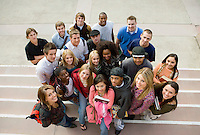 Group of students on steps (portrait)