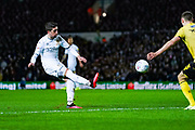 Leeds United midfielder Pablo Hernandez (19) passes the ball during the EFL Sky Bet Championship match between Leeds United and Millwall at Elland Road, Leeds, England on 28 January 2020.