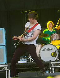 The Wombats on the main stage..Rockness, Sunday, 12th June 2011..RockNess 2011, the annual music festival which takes place in Scotland at Clune Farm, Dores, on the banks of Loch Ness near Inverness..Pic ©2011 Michael Schofield. All Rights Reserved..