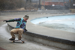 The willingness to come out in wind and snow shows the skaters' dedication. Says James Sinclair.
