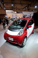 Mitsubishi electric car called MIEV at the Tokyo Motor Show. October 2009.