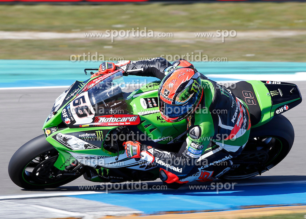 18.04.2015, Assen Circuit, Assen, NED, FIM, Superbike WM, Assen, Qualifying, im Bild 66 Tom Sykes / Groflbritannien / Kawasaki Racing Team // during the Qualifying for the FIM Superbike Dutch Grand Prix at the Assen Circuit in Assen, Netherlands on 2015/04/18. EXPA Pictures &copy; 2015, PhotoCredit: EXPA/ Eibner-Pressefoto/ Stiefel<br /> <br /> *****ATTENTION - OUT of GER*****